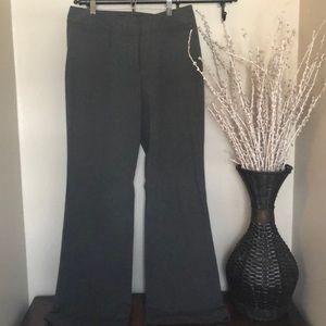 Wide leg dark gray dress pants